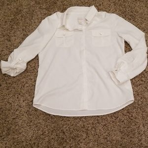 Chico's silly soft cream shirt size 0 (small)